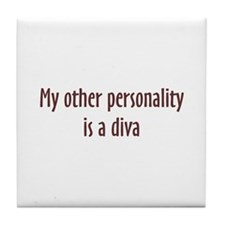 Diva Personality Tile Coaster