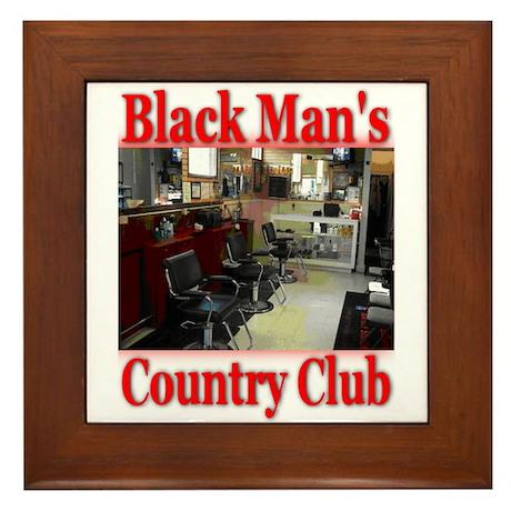 Black Man Country Club Framed Tile