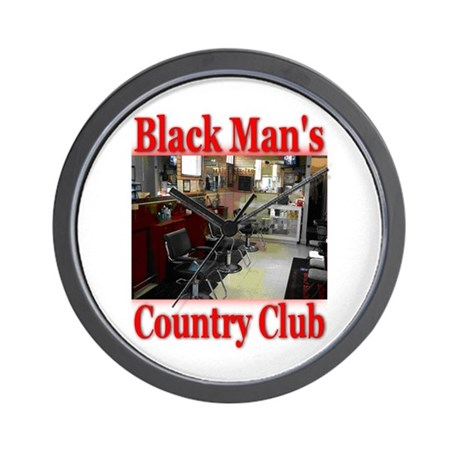 Black Man Country Club Wall Clock
