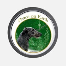 Deerhound Peace Wall Clock