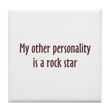 Rock Star Personality Tile Coaster