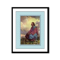 Jesus in the Fields-Unknown-9x12 Framed Print