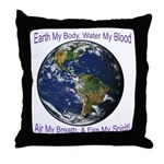 Earth My Body Throw Pillow