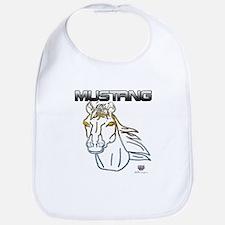 mustang horse Bib