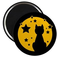 Black Cat/Moon Magnet