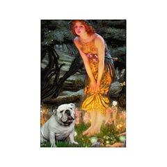 Fairies / English Bulldog Rectangle Magnet