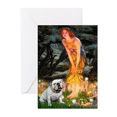 Fairies / English Bulldog Greeting Cards (Pk of 20