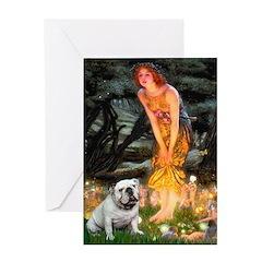 Fairies / English Bulldog Greeting Card