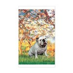 Spring/ English Bulldog (#9) Sticker (Rectangle)