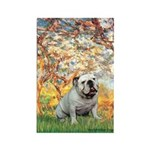Spring/ English Bulldog (#9) Rectangle Magnet
