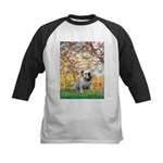Spring/ English Bulldog (#9) Kids Baseball Jersey