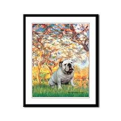Spring/ English Bulldog (#9) Framed Panel Print