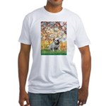 Spring/ English Bulldog (#9) Fitted T-Shirt