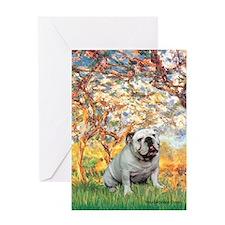 Spring/ English Bulldog (#9) Greeting Card