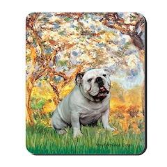 Spring/ English Bulldog (#9) Mousepad