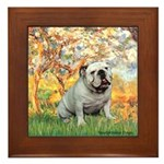 Spring/ English Bulldog (#9) Framed Tile