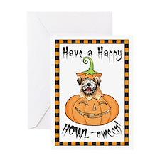 Halloween Wheaten Greeting Card
