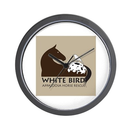 White Bird Appaloosa Horse Re Wall Clock