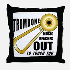 Trombone Touch Throw Pillow