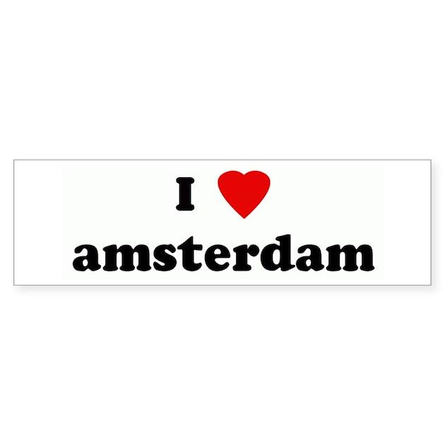 i love amsterdam bumper car sticker by ihearttees. Black Bedroom Furniture Sets. Home Design Ideas