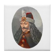 Vlad the Impaler Tile Coaster