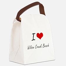 I love Wilson Creek Beach Califor Canvas Lunch Bag