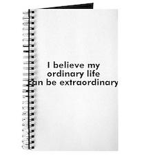 I believe my ordinary life ca Journal