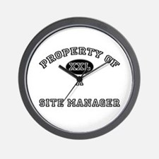 Property of a Site Manager Wall Clock