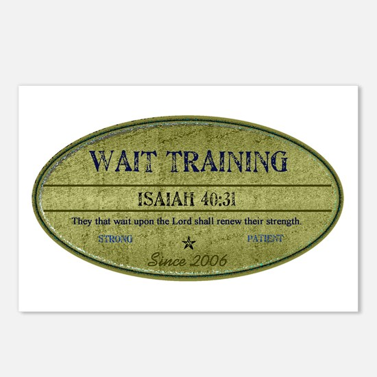 Wait Training Postcards (Package of 8)