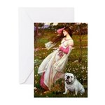 Windflowers / English BD (#9) Greeting Cards (Pk o