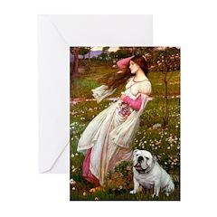 Windflowers / English BD (#9) Greeting Cards (Pk o