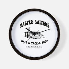 Master Baiters Wall Clock