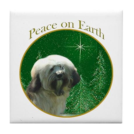 Tibetan Terrier Peace Tile Coaster