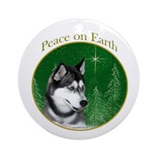 Husky Peace Ornament (Round)