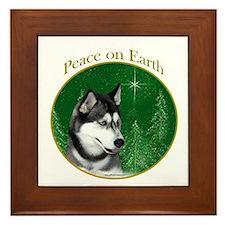 Husky Peace Framed Tile