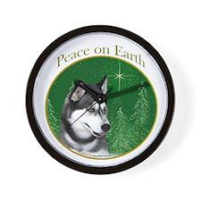 Husky Peace Wall Clock