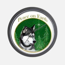 Husky Peace Wall Clock