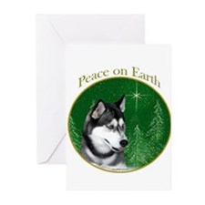 Husky Peace Greeting Cards (Pk of 20)