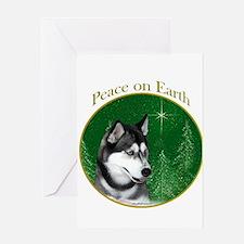 Husky Peace Greeting Card