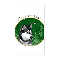 Husky Peace Rectangle Decal