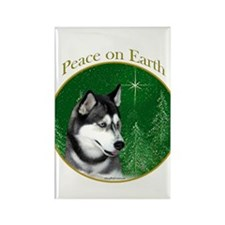 Husky Peace Rectangle Magnet