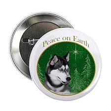 Husky Peace Button