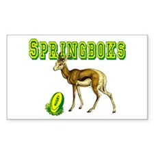 Springbok Rugby Rectangle Decal