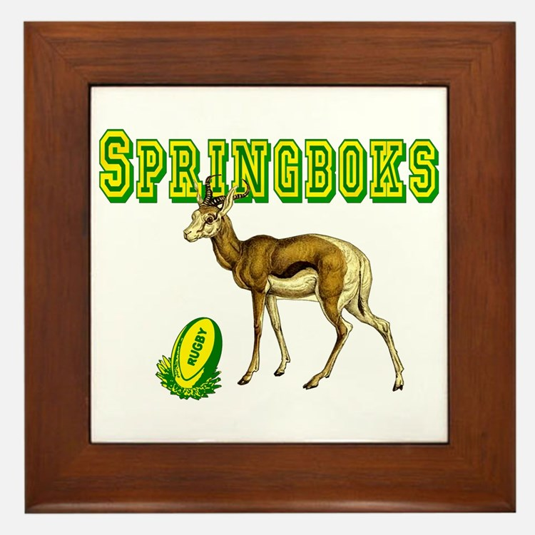 Springbok Rugby Framed Tile