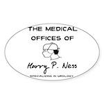 Harry P. Ness Oval Sticker