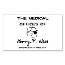 Harry P. Ness Rectangle Decal