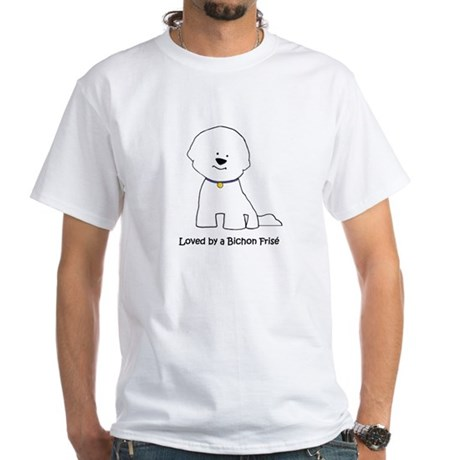 Loved By A Bichon White T-Shirt