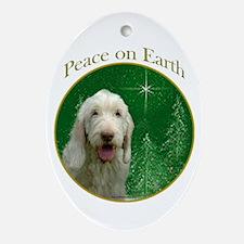 Spinone Peace Oval Ornament