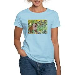 Irises / 2 English Bulldogs T-Shirt