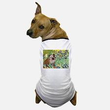 Irises / 2 English Bulldogs Dog T-Shirt